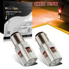 2pcs Amber Error Free 1156 7506 P21W Cree XPE LED Rear Turn Signal Light Bulbs