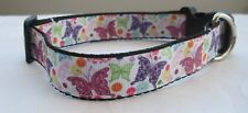 Butterfly dog collar or lead handmade puppy cute wildlife pink gift