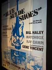 BLUE SUEDE SHOES  gene vincent bill haley cliff richar daffiche cinema rock 1979