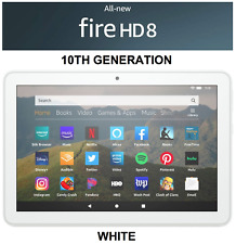 """NEW Amazon Fire HD 8 Tablet with Alexa 8"""" HD Display 32GB (10th Gen) - WHITE"""