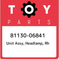 81130-06841 Toyota Unit assy, headlamp, rh 8113006841, New Genuine OEM Part