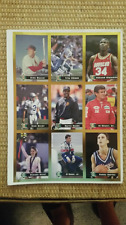 LEGENDS SPORTS MAGAZINE UNCUT 9 PLAYER SHEET FOIL CARDS Stan Musial
