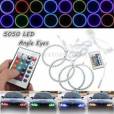 4x Multicolor RGB 120MM 5050 SMD LED Flash Angel Eye Halo Ring IR Remote Control