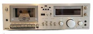Technics RS-M63 platine Cassette Argenté 3 Head System Testé Fonctionne