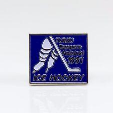 World Championship 1991 Finland pin, badge, lapel, hockey