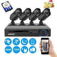 8CH 1080P HDMI DVR 1500TVL Outdoor 720P CCTV Security Camera System 1TB HDD 4Cam