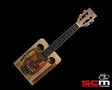 Eddy Finn Cigar Box Concert Ukulele Aquila Strings Gig Bag Pro Setup + Warranty