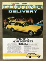 1982 Ford Cortina Delivery original New Zealand sales brochure/leaflet
