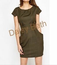 Cotton Blend Short Sleeve Formal Striped Dresses for Women