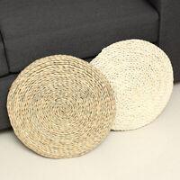 16'' Grass Weave Yoga Cushion Pad Pillow Pouf Floor Chair Seat Mat Tatami  =