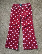 MINI BODEN Red Spot Cord Trousers With Adjustable Waist Age 7/8