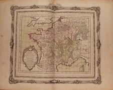 RIZZI-ZANNONI. ATLAS HISTORIQUE ET GEOGRAPHIQUE DE LA FRANCE. 1764.