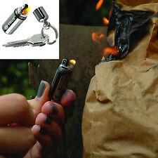 True Utility Fire Stash Llavero Impermeable Mini Supervivencia gasolina más ligero, Gadget