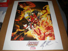 Dynamic Force AVENGERS INVADERS FINE ART Signed LITHO