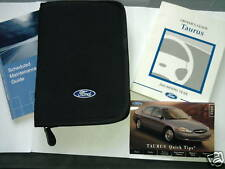 2002  TAURUS OWNERS MANUAL SET WITH CASE