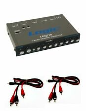 Graphic Equalizer 7 Band EQ Car Audio 7V Line Driver With 2 FREE 3FT RCA Cables