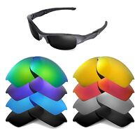 Walleva Replacement Lenses for Oakley Flak Jacket Sunglasses - Multiple Options