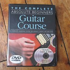 The Complete Absolute Beginners Guitar Course: w 2 CDs + DVD + Book Free Post