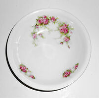 Austria Victoria China Porcelain Pink Roses Fruit Bowl
