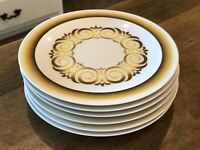 Set of 6 - Vintage Noritake Expression ALHAMBRA 7046 Salad Luncheon Yellow