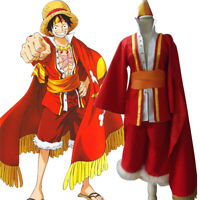 One Piece Monkey D. Luffy Animation 15th Anniversary Outfit Cosplay Costume H028