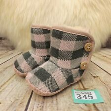Baby UGG Australia Purl Pine Button Pink Pull On Ankle Boots UK 0.5 Infant