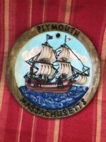 Forgot A Souvenir?? Here Is A Collector Plate From Plymouth, Massachusetts!!