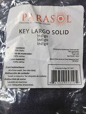 One Parasol Key Largo Solid Indoor Outdoor Window Curtain Panel Indigo 52 x 84