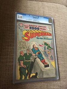 SUPERMAN #107 8/56 CGC 3.0 OW/White Pages