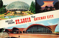 Postcard Hello From St. Louis The Gateway City