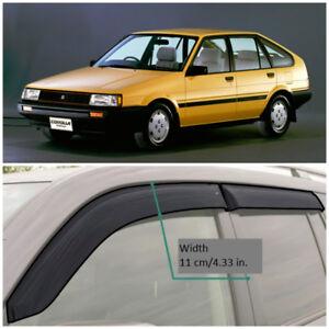 TE210083 Window Visors Vent Wide Deflectors For Toyota Corolla Hb 1983-1987