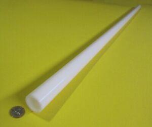 "Delrin Acetal White Tube 1.25"" Oversize OD  x 1.00"" Undersize ID x 60"" Length"