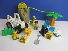 DUPLO lego ZOO KEEPER SET ANIMAL FIGURE giraffe sea lion polar bear LOT 24a