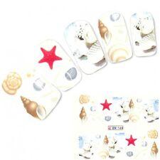 TATTOO NAIL ART SPIAGGIA CONCHIGLIA STELLA MARINA adesivi unghie sticker