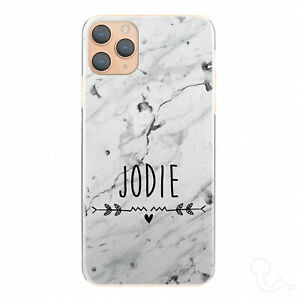 Personalised Initial Phone Case, Marble Hard Cover For Sony Xperia - Custom Name