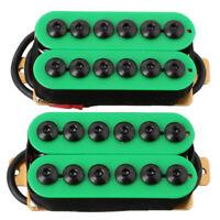 2Pcs Double Coil Electric Guitar Humbucker Pickup Bridge&Neck Ceramic Magn C2A6