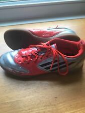 Adidas Indoor Soccer Football Shoes Mens 7 FR 40 Rare F-50 F-SO Orange Silver