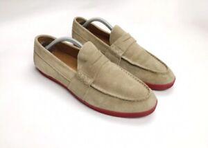 Moncler Loafers Mens Beige Suede Shoes sz. us 11.5 uk 11 euro 45