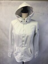 Tangerine Woman Running Hoody Grey Striped Full Zip Size L