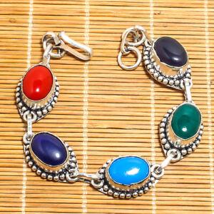 silver plated gemstone bracelet,gift for her,christmas gift,stone braacelet,love