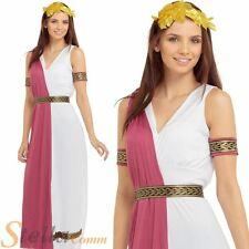 Ladies Greek Goddess Roman Toga Costume Womens Fancy Dress Party Outfit