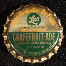 LEOS GRAPEFRUIT-ADE SODA LINED CORK BOTTLE CAP CROWN MAGDALENA SONORA MEXICO OLD