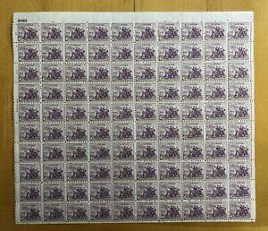 US Scott #732 Full sheet of 100-MNH-No perf seps