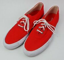 VINTAGE EDDIE BAUER SHOES Men's Sneaker Tennis Shoes Red Canvas Lace Up Walking