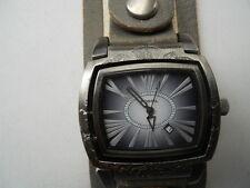 Fossil flip men's leather watch.quartz,battery & water resistant Analog watch.