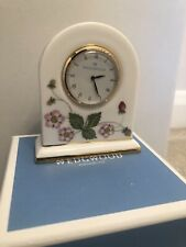 Wedgwood Wild Strawberry 8cm Dome Clock Brand New Made In England Gift Boxed