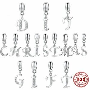 Charms Anhänger 925 Sterling Silber Alphabet A - Z Buchstaben kompatibel Pandora
