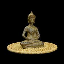 Ancient Tibet prayer Buddha Bronze statue Buddha Old Statue Figurine 9*6*4cm