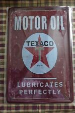 Motor Oil Texaco Metal Tin Sign Painted Poster Wall Decor Pub Home Shop Office