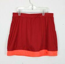 Adidas Climalite Youth Girls Shorts Tennis Skirt Training Galaxy Red Orange Xl